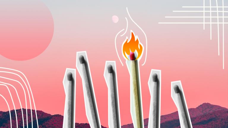 imagem capa blog com cinco fósforos apagados e um aceso representando as soft skills