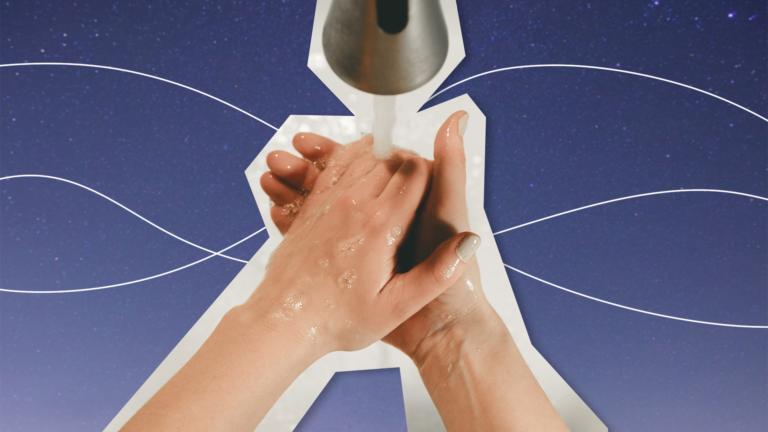 imagem de capa de blog com as mãos sendo lavadas embaixo de uma torneira representando o coronavirus