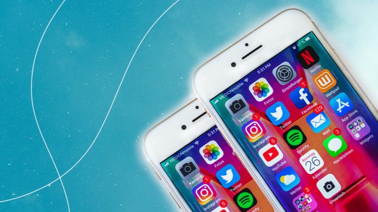 imagem de capa blog com dois celulares mostrando apps de redes sociais na sua tela, representando os perigos e oportunidades nas redes sociais