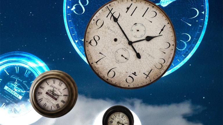 imagem de capa blog com três relógios analógicos representando a redução da jornada de trabalho