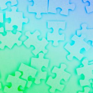 imagem capa podcast com peças de quebra-cabeça representando a construção da cultura organizacional de uma empresa