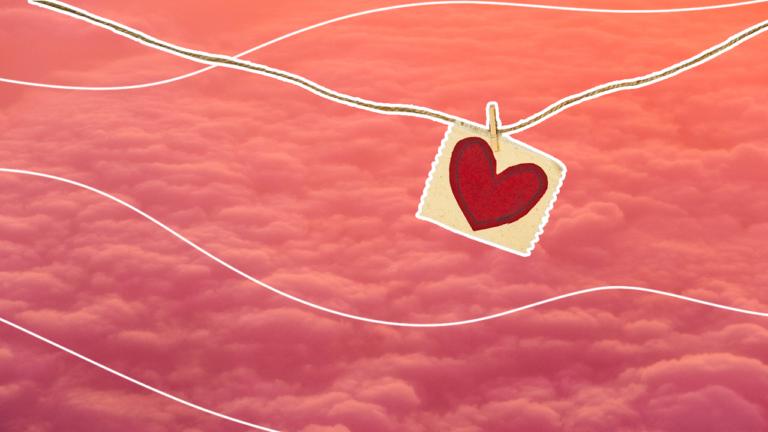 imagem de capa de blog com um fio de varal e um papel pregado com o desenho de coração representando dicas para economizar se você ficou desempregado