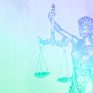 imagem com o símbolo do jurídico que é uma balança representando as leis trabalhistas